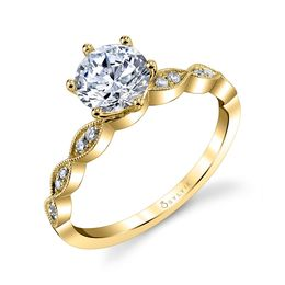 Chanelle Round Solitaire Engagement Ring image 1