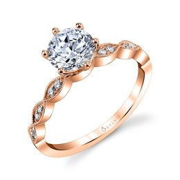 Chanelle Round Solitaire Engagement Ring image 3