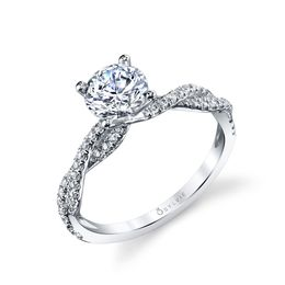 Leana Spiral Engagement Ring image 1