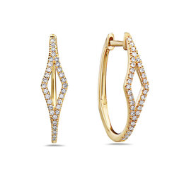 Diamond Shape Hoop Earrings image 2