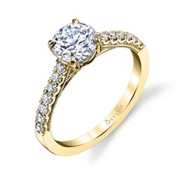 Clara Classic Solitaire Engagement Ring image 1