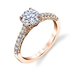 Clara Classic Solitaire Engagement Ring image 3