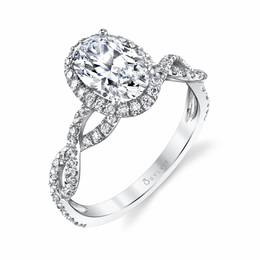 Spiral Oval Diamond Engagement Ring image 3