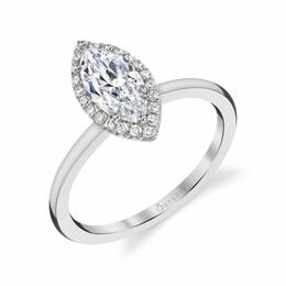 Elsie Marquise Shaped Diamond Engagement Ring image 1