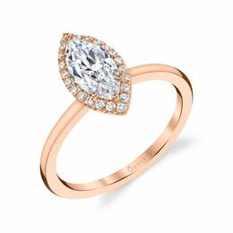 Elsie Marquise Shaped Diamond Engagement Ring image 2