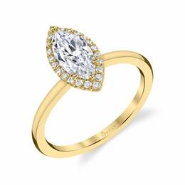 Elsie Marquise Shaped Diamond Engagement Ring image 3
