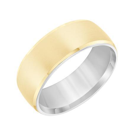 Luxurious 7 mm Satin Finish Wedding Band with Satin Finish and Rolled Edge image 2