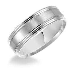 Classic Wedding Band with Satin Finish and Round Edges image 3