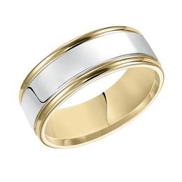 Brightly Polished Wedding Band with Round Edges image 2