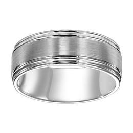 Satin Finish Double Round Edge 8mm Band  image 2