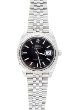 Rolex Pre-Owned 41mm Black Dia Datejust  image 2