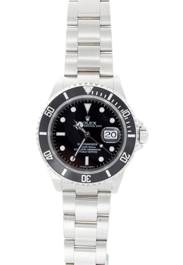 Rolex Pre-Owned Stainless Steel Submariner with Black Dial image 2