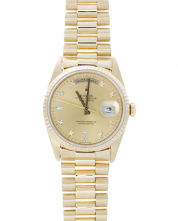 Rolex Pre-Owned 36mm Day-Date with Diamond Dial image 2