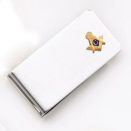 Sterling Silver Masonic Blue Lodge Money Clip