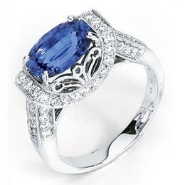 Simon G Stunning Oval Tanzanite Ring