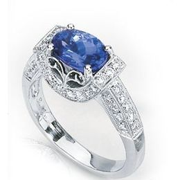Elegant Oval Tanzanite Ring by Simon G