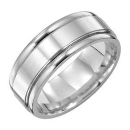Stunning Platinum Wedding Band by Lieberfarb