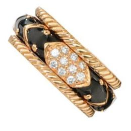 Diamond And Rose Gold Band by Hidalgo