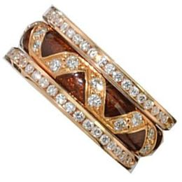 Exquisite Hidalgo Ring with Rose Gold and Diamonds