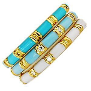 Gorgeous Pastel Enamel Ring by Hidalgo