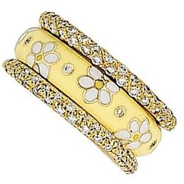 Delightful Daisy Pattern Ring by Hidalgo