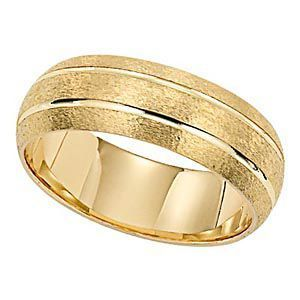Gorgeous Brushed Finish Lieberfarb Mens Wedding Band