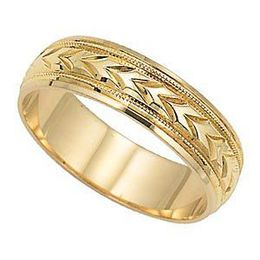 Lovely Mens Wedding Band by Lieberfarb