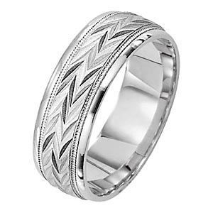 Designer Mens Wedding Band by Lieberfarb
