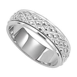 Designer Wedding Band for Men by Lieberfarb