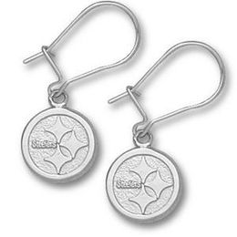 Pittsburgh Steelers Silver Dangle Earrings