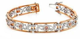 Gorgeous Two-Toned Gold and Diamond Bracelet by Simon G