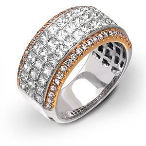 Dazzling Two-tone Gold Simon G. Diamond Band