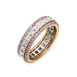 Simon G. White and Rose Gold Diamond Band