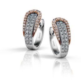Dazzling Simon G. Buckle Diamond Earrings
