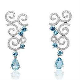 Breathtaking Aquamarine Earrings by Simon G.