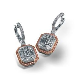 Simon G. Mosaic Diamond Earrings