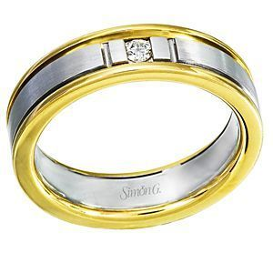 Classic Two-tone Simon G. Diamond Band