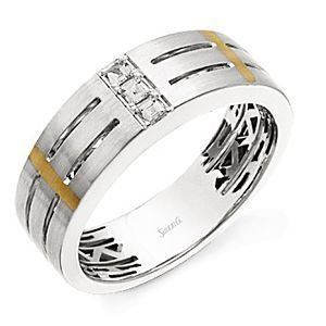 14k Two-tone Simon G. Band