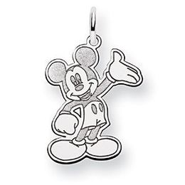 Disney Waving Mickey Charm in 14k White Gold