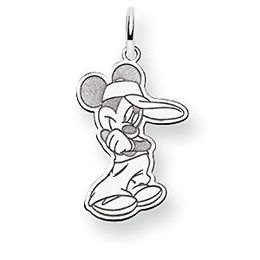 Mickey Mouse Disney White Gold Charm