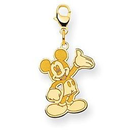14k Yellow Gold Mickey Mouse Disney Charm