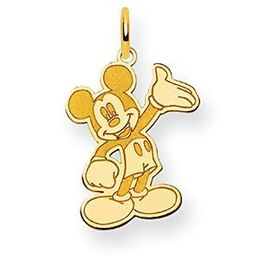 Mickey Mouse Yellow Gold Waving Charm