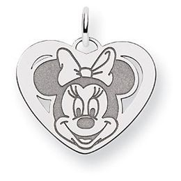 Minnie Mouse Charm in 14k White Gold