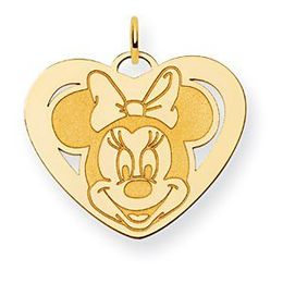 Minnie Mouse Charm in 14k Yellow Gold