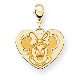 14k Yellow Gold Minnie Mouse Lobster Clasp Charm