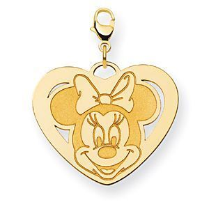 Gorgeous 14k Yellow Gold Minnie Mouse Charm