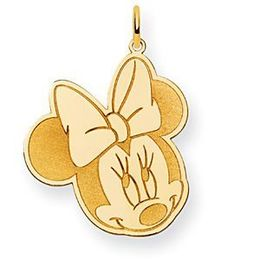 Disney Minnie Mouse 14k Yellow Gold Charm