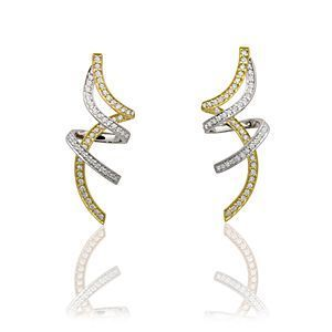 Simon G. Two-tone Diamond Earrings
