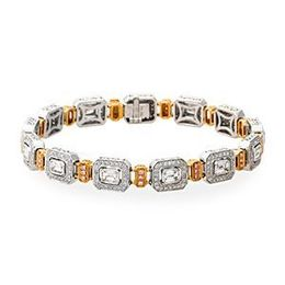 Beautiful Two-Tone Simon G. Diamond Bracelet