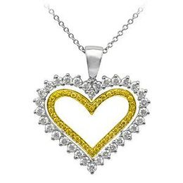 Yellow Diamond Heart Pendant from Simon G.